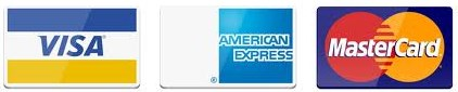 We accept Visa, Mastercard & American Express